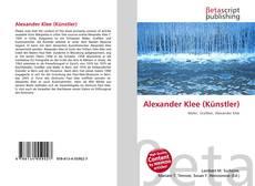 Alexander Klee (Künstler)的封面