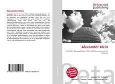 Alexander Klein的封面