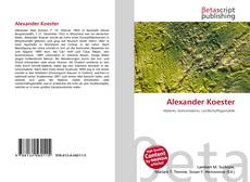 Bookcover of Alexander Koester