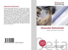Bookcover of Alexander Koltschinski