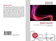 Portada del libro de Sophie Hannah