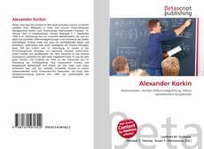 Capa do livro de Alexander Korkin