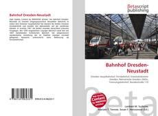Обложка Bahnhof Dresden-Neustadt