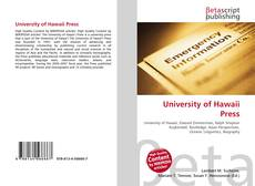 University of Hawaii Press kitap kapağı