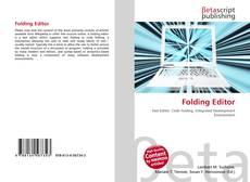 Folding Editor kitap kapağı