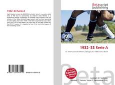 Bookcover of 1932–33 Serie A