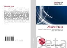 Buchcover von Alexander Lang