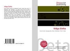 Vidya Sinha kitap kapağı
