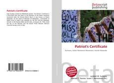 Borítókép a  Patriot's Certificate - hoz
