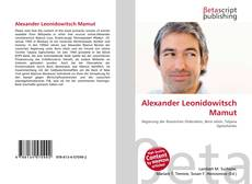 Bookcover of Alexander Leonidowitsch Mamut