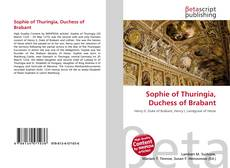 Bookcover of Sophie of Thuringia, Duchess of Brabant