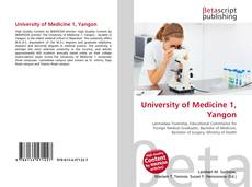 Bookcover of University of Medicine 1, Yangon