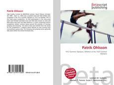 Capa do livro de Patrik Ohlsson