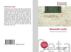 Bookcover of Alexander Leslie