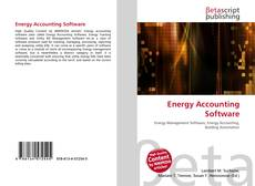 Bookcover of Energy Accounting Software