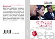 Buchcover von University of Miami School of Business Administration