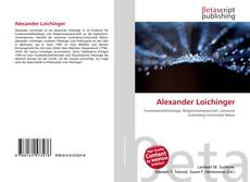 Buchcover von Alexander Loichinger
