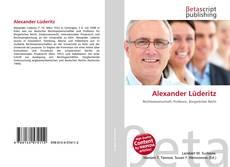 Buchcover von Alexander Lüderitz