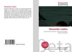 Buchcover von Alexander Lüders