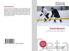 Capa do livro de Patrik Bärtschi