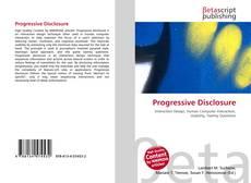 Bookcover of Progressive Disclosure
