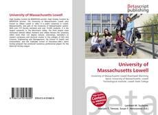 Обложка University of Massachusetts Lowell