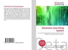 Portada del libro de Electronic Case Filing System