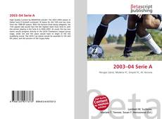 Bookcover of 2003–04 Serie A