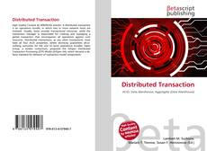 Bookcover of Distributed Transaction