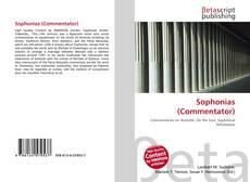 Capa do livro de Sophonias (Commentator)