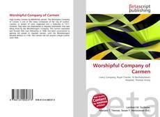 Portada del libro de Worshipful Company of Carmen