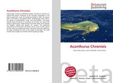 Bookcover of Acanthurus Chronixis