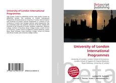 University of London International Programmes的封面