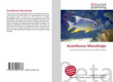Bookcover of Acanthurus Maculiceps