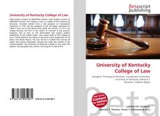 Buchcover von University of Kentucky College of Law