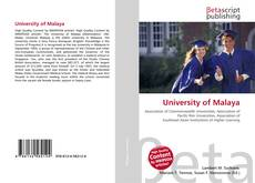Capa do livro de University of Malaya