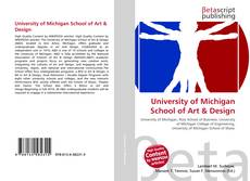 University of Michigan School of Art & Design的封面