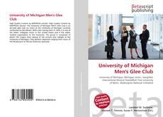Portada del libro de University of Michigan Men's Glee Club
