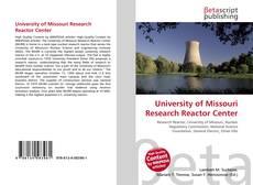 University of Missouri Research Reactor Center的封面