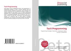 Bookcover of Tacit Programming