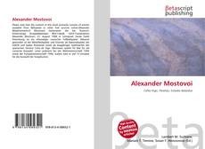 Bookcover of Alexander Mostovoi