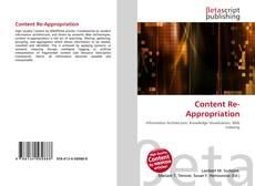 Bookcover of Content Re-Appropriation