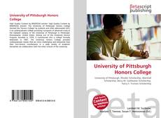 University of Pittsburgh Honors College的封面
