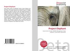 Bookcover of Project Elephant