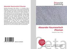Обложка Alexander Naumowitsch Zfasman