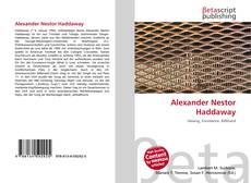 Alexander Nestor Haddaway kitap kapağı