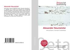 Bookcover of Alexander Neumeister