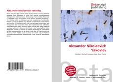 Capa do livro de Alexander Nikolaevich Yakovlev