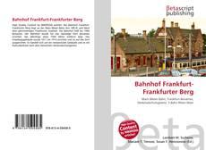Copertina di Bahnhof Frankfurt-Frankfurter Berg