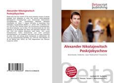 Capa do livro de Alexander Nikolajewitsch Poskrjobyschew